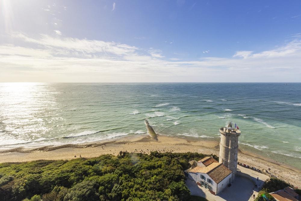 Point de vue depuis le phare des Baleines de l'île de Ré