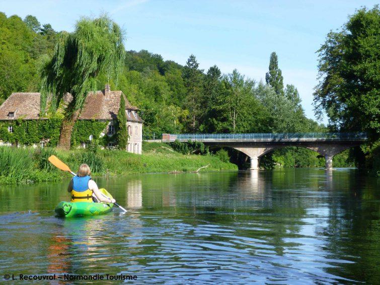 Faire du canoë-kayak en Normandie : sur l'Eure