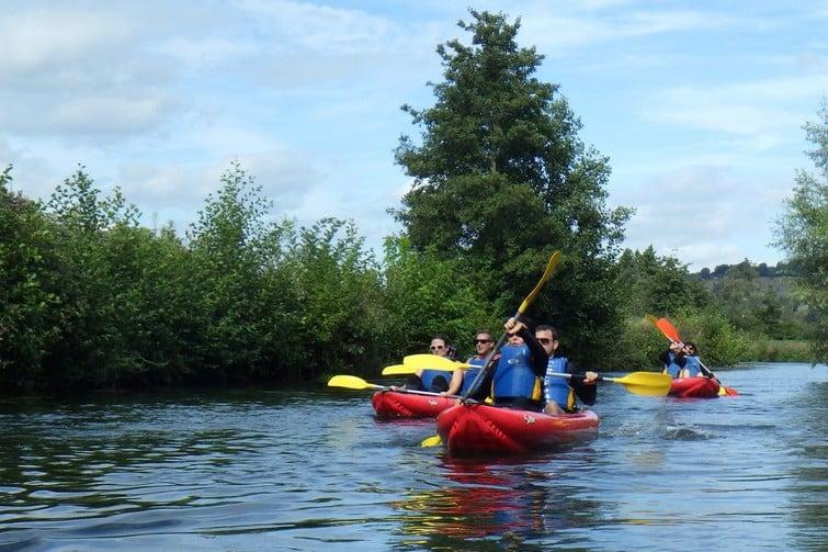 Kayak sur la Touques