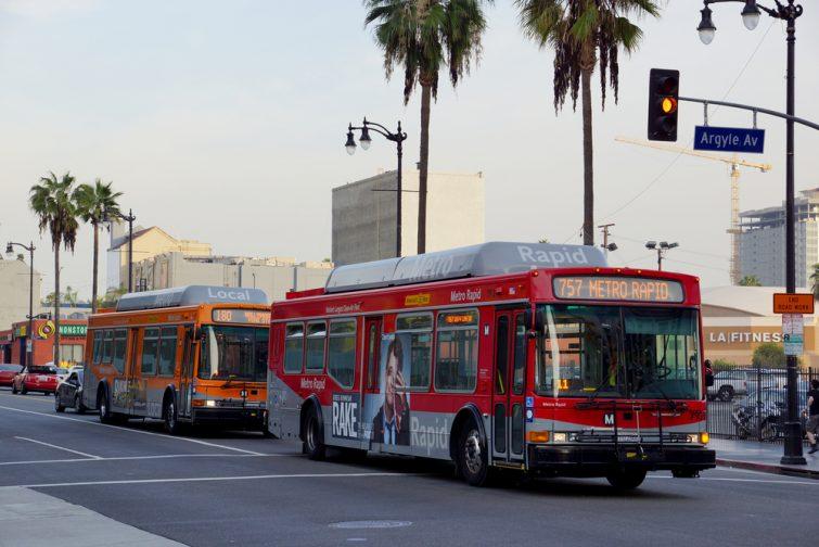 Bus de Los Angeles, utile pour effectuer le transfert entre l'aéroport de Los Angeles et le centre