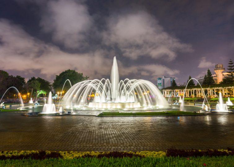 La fontaine du circuit d'eau, Parque de la Reserva, visite à faire à Lima