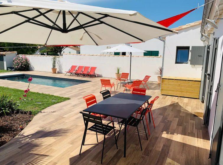 Maison avec piscine proche de la plage su l'Île de Ré