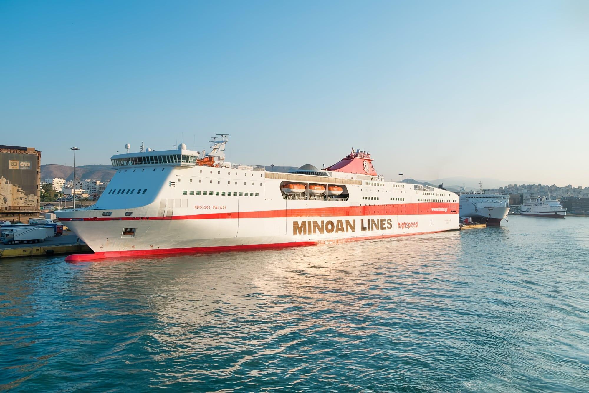 minoan lines grèce depuis italie en ferry Corfou depuis Ancône en ferry