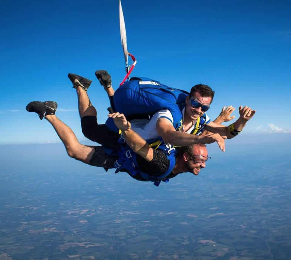 ojb parachutisme saut en parachute autour d'Arcachon