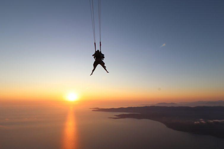 Saut en parachute à Propriano, Corse