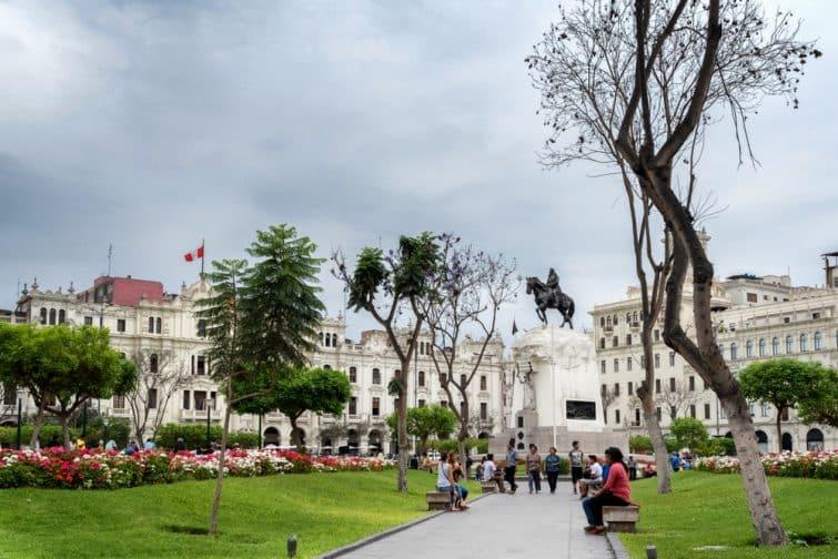 La Plaza San Martin, lieu à ne pas rater dans le centre de Lima