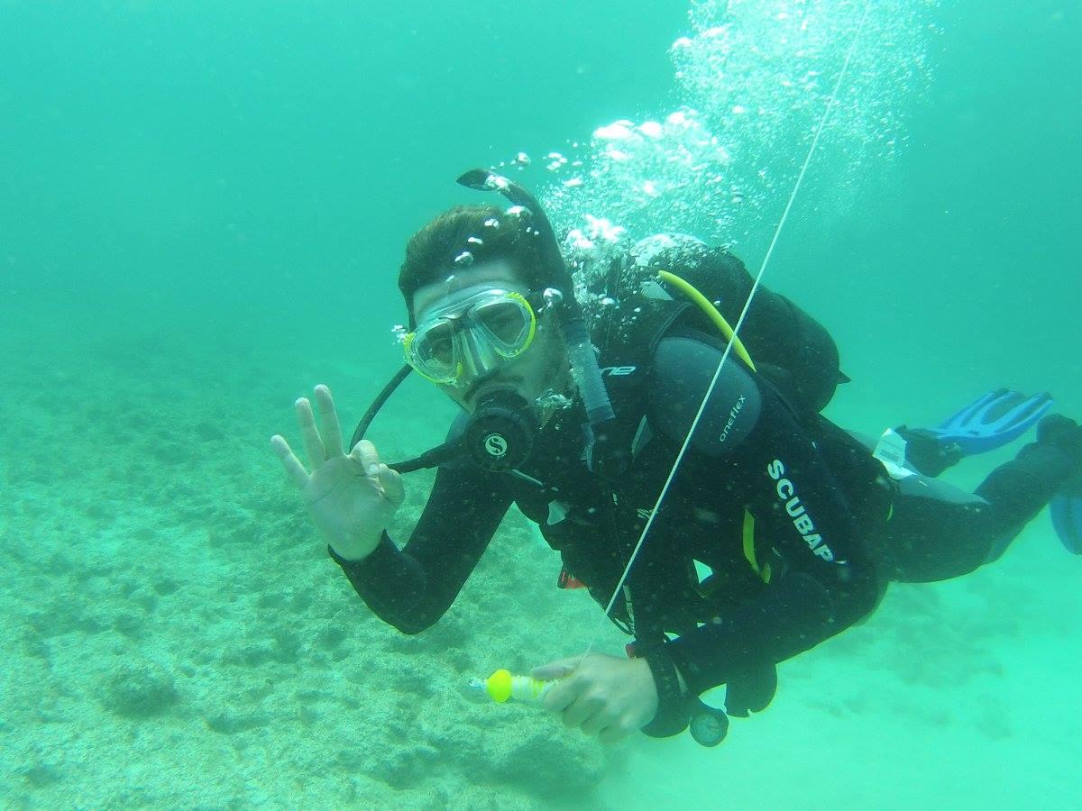 plongeur cap vert
