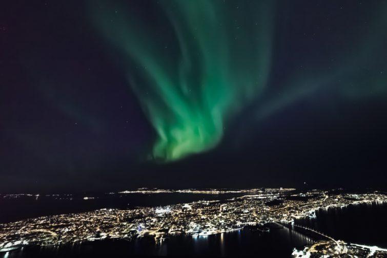 Storsteinen, spot idéal d'observation des aurores boréales