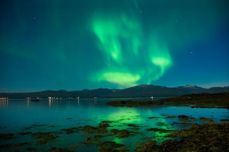 Le spectacle des lumières vertes du nord