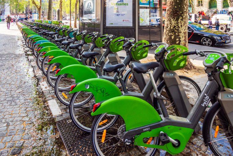vélo se déplacer paris