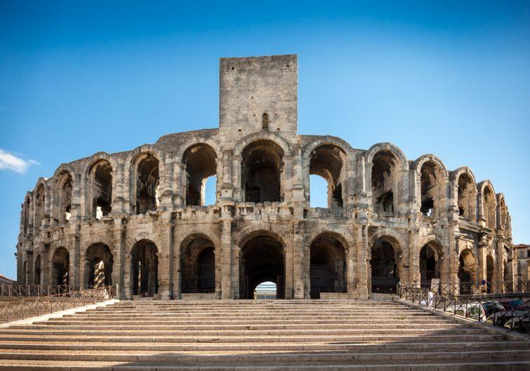 Arène et amphithéâtre romain, Arles, Provence, France