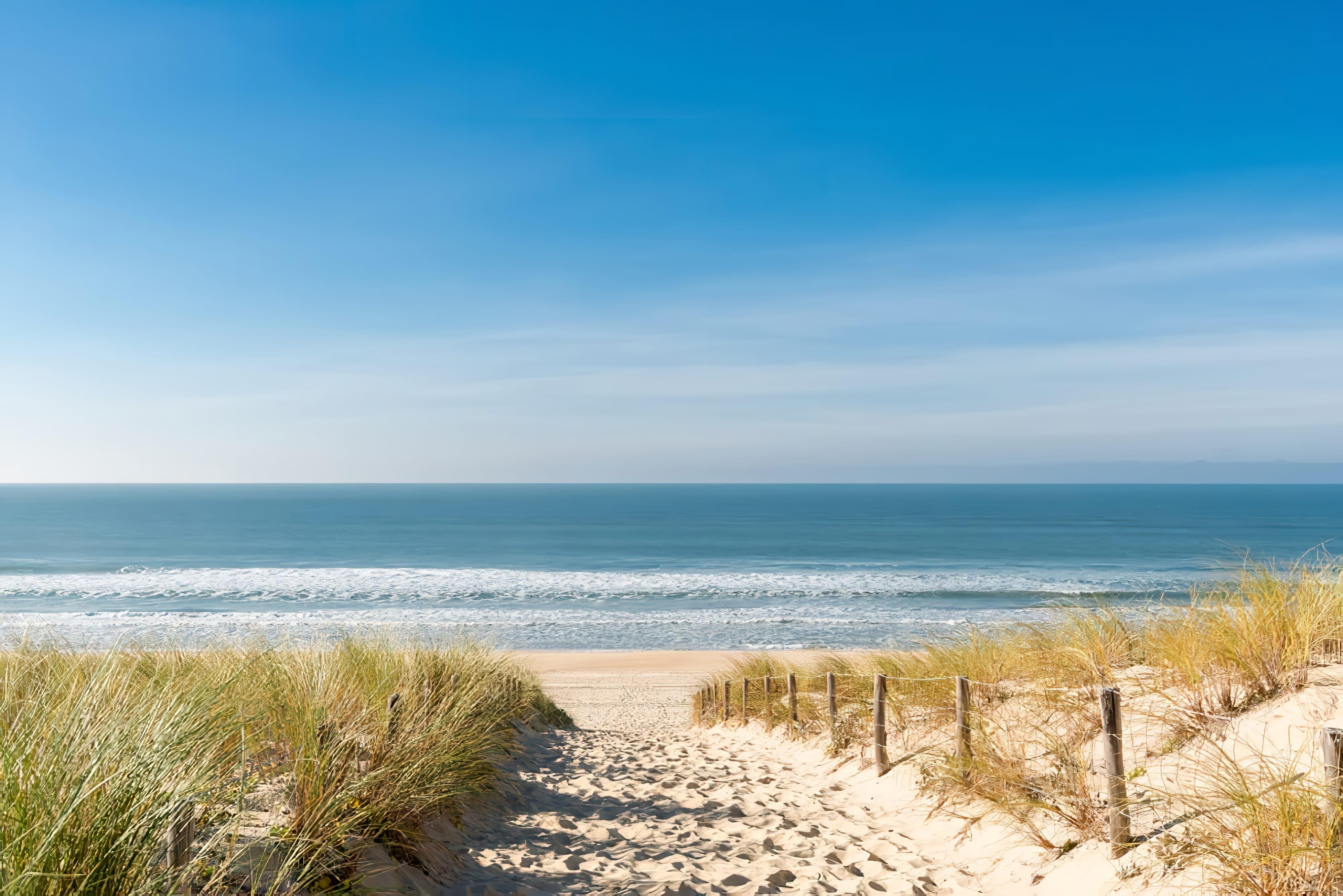 Cap Ferret (Baie d'Arcachon, France), accès à la plage des dunes