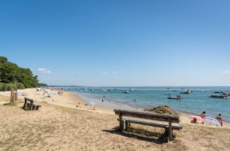 Cap Ferret (Baie d'Arcachon, France), la petite plage de La Vigne