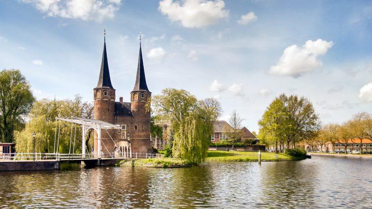 Delft Oostpoort Drawbridge, Pays-Bas