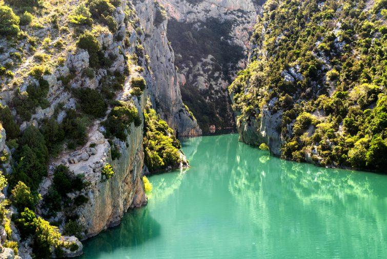 Gorges du Verdon (Alpes-de-Haute-Provence, Provence-Alpes-Côte d'Azur, France), célèbre canyon