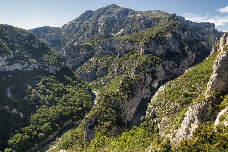 Gorges du Verdon (Alpes-de-Haute-Provence, Provence-Alpes-Cote d'Azur, France), famous canyon