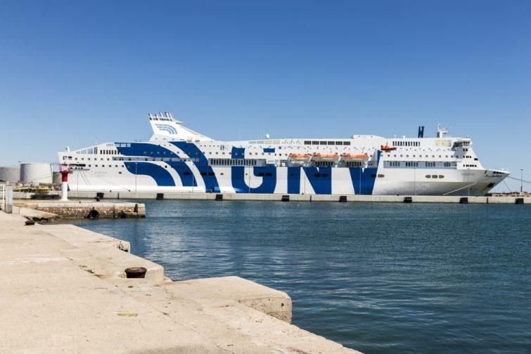 Grandi Navi Veloci in the port