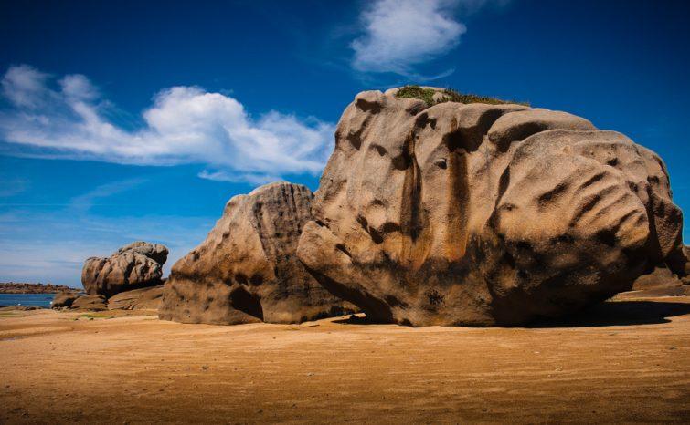 La plage du Coz-Pors bretagne