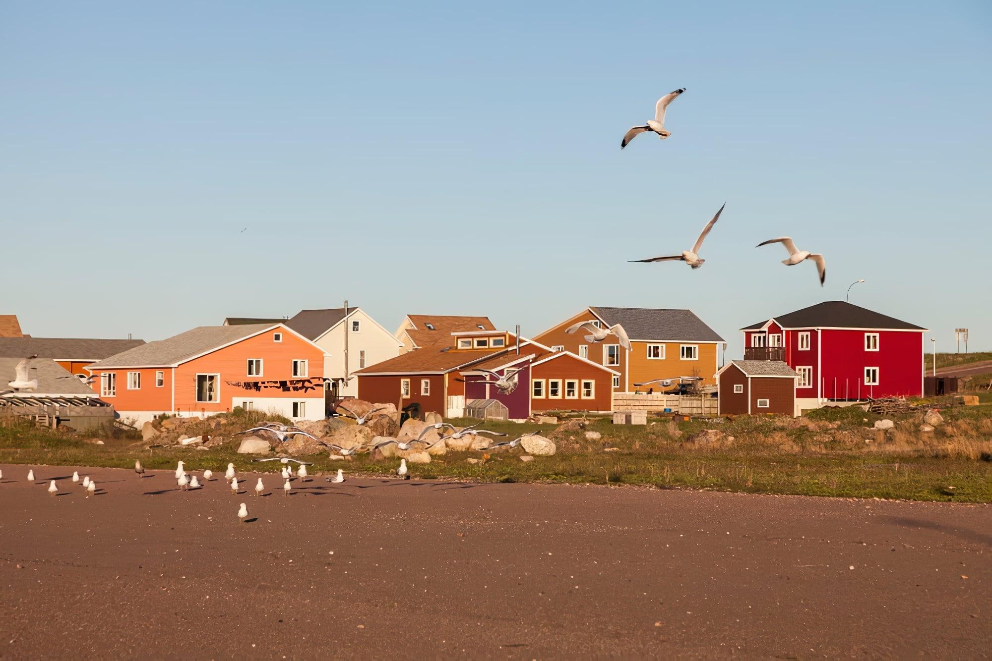 Panorama sur Saint Pierre. Saint-Pierre, Saint-Pierre-et-Miquelon.