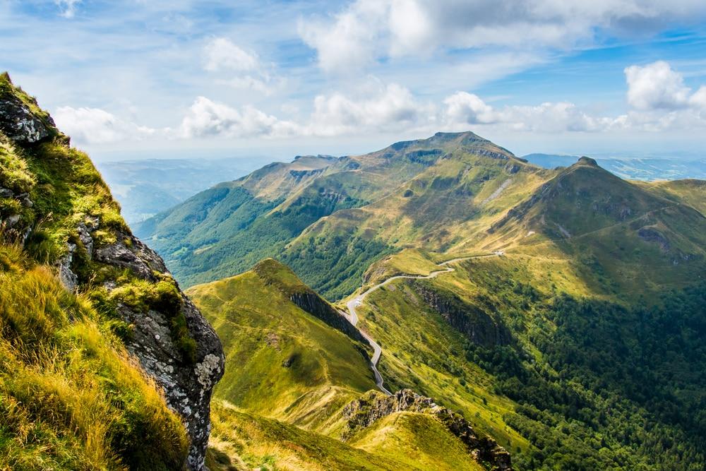 Vue du Puy Mary, Auvergne, France