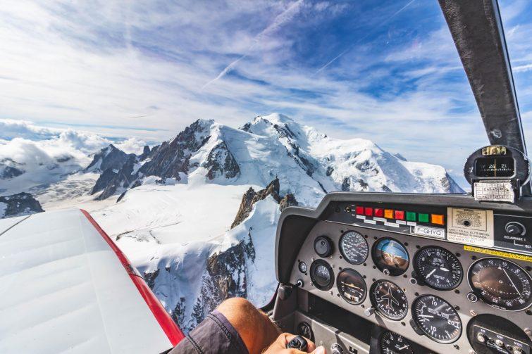 Le Mont Blanc en avion