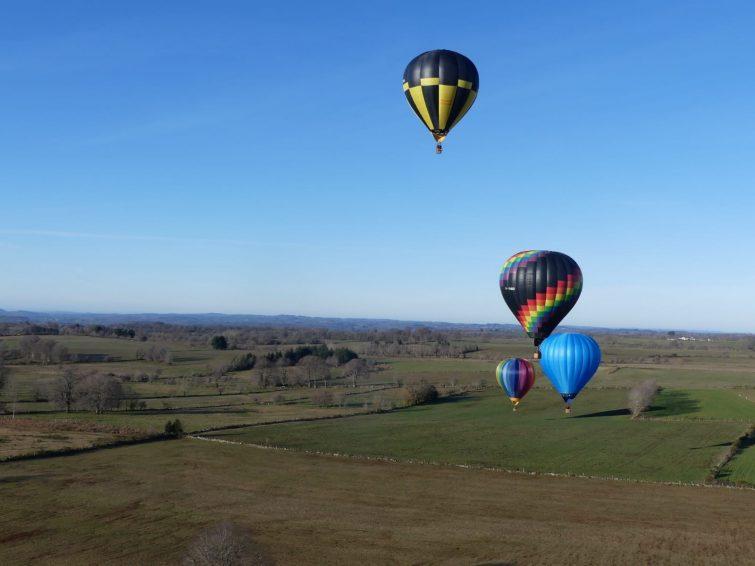 Carladez dans l'Aveyron en montgolfière