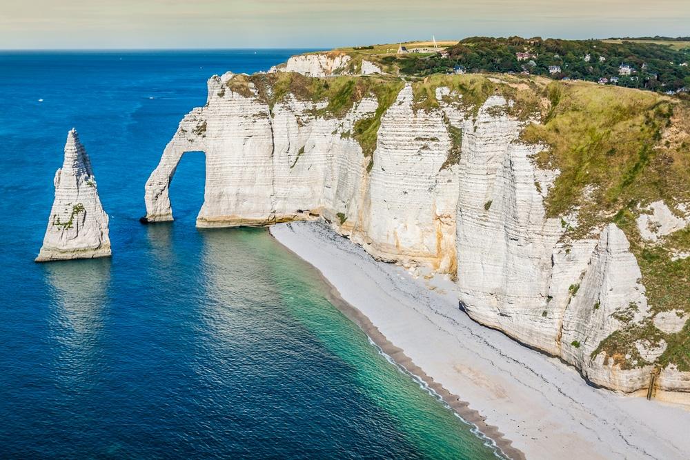 Plus beaux villages de Normandie : les falaises d'Étretat