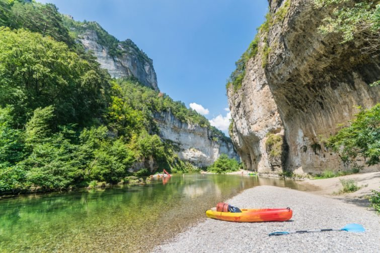 Canoë kayak dans les Gorges du Tarn