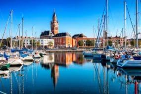 La ville historique de Dunkerque, la côte atlantique de l'océan, France