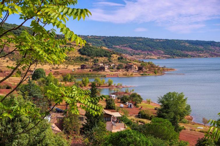 Lac du Salagou in France,