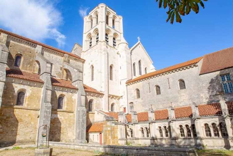L'ancienne abbaye de Vézelay, patrimoine mondial de l'Unesco, Bourgogne, France