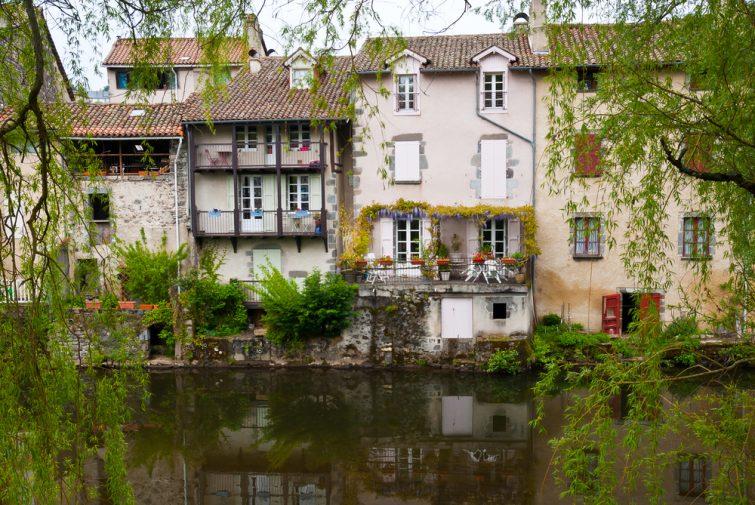 Ville d'Aurillac, Cantal, France