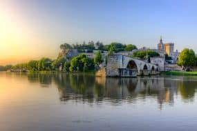 Vue sur la ville d'Avignon