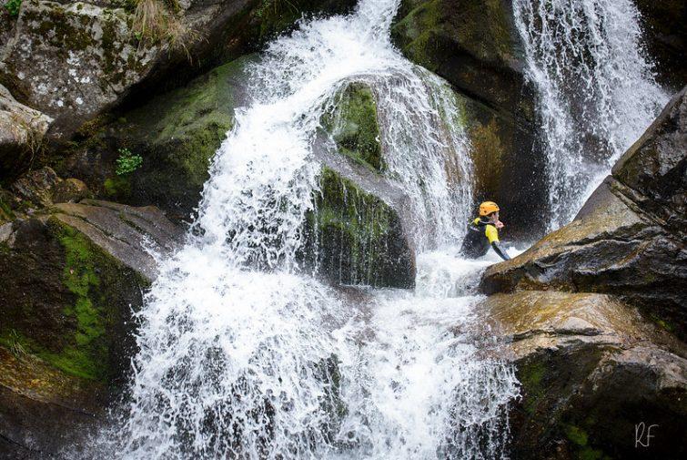 Cascade dans le canyon du Tapoul