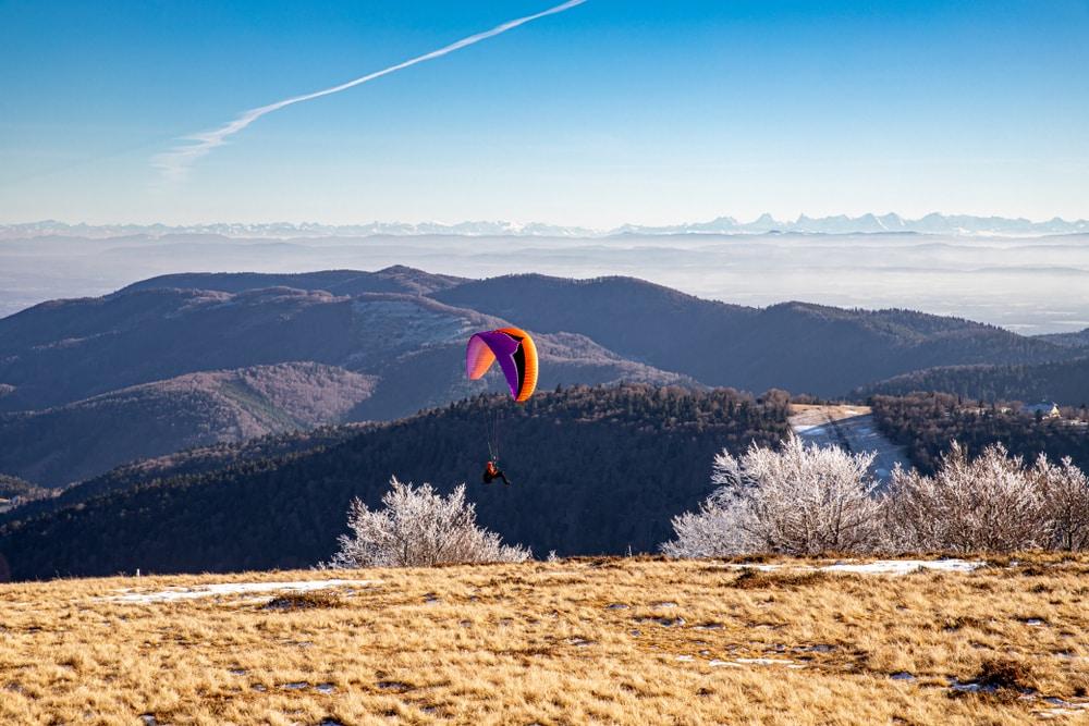 Visiter le Parc Naturel Régional des Ballons des Vosges : parapente