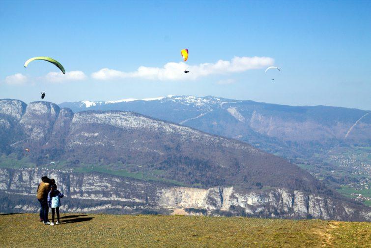Parapente sur le Col de la Forclaz, Haute-Savoie