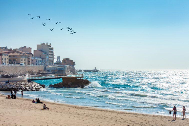 Plus belles plages de Marseille : Plage des Catalans