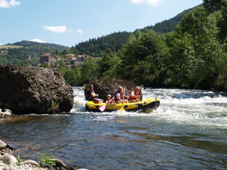 Rafting en Ardèche : les gorges de l'Allier