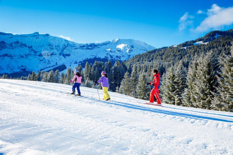 Ski nordique dans le massif des Aravis