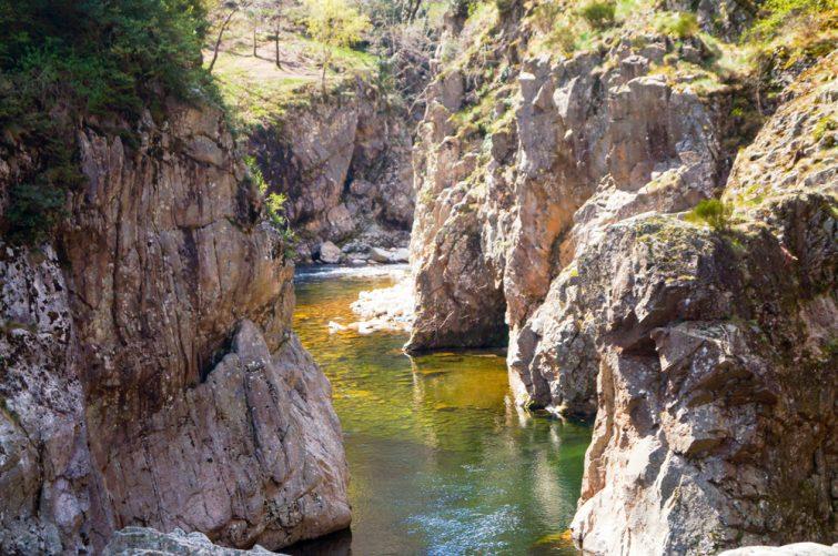 via ferrata en Ardèche