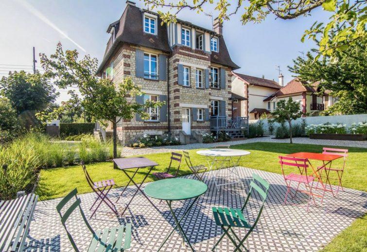 Villa classée avec jardin proche Deauville - Airbnb Villers-sur-Mer
