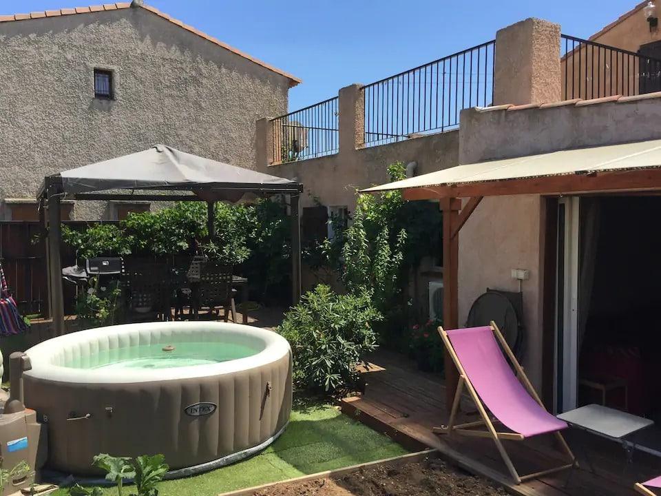 Appartement Calme en Rez de Jardin, Jacuzzi, BBQ