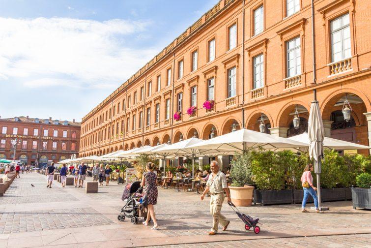 Rue piétonne Toulouse