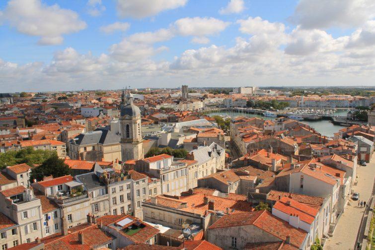 Vue aérienne de La Rochelle