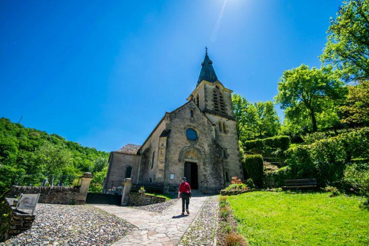 Visiter Belcastel : église Sainte Marie-Madeleine