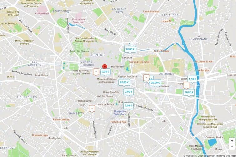 Carte OnePark Montpellier