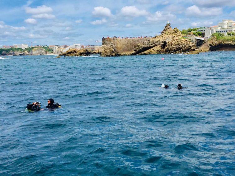 Plongée à Biarritz