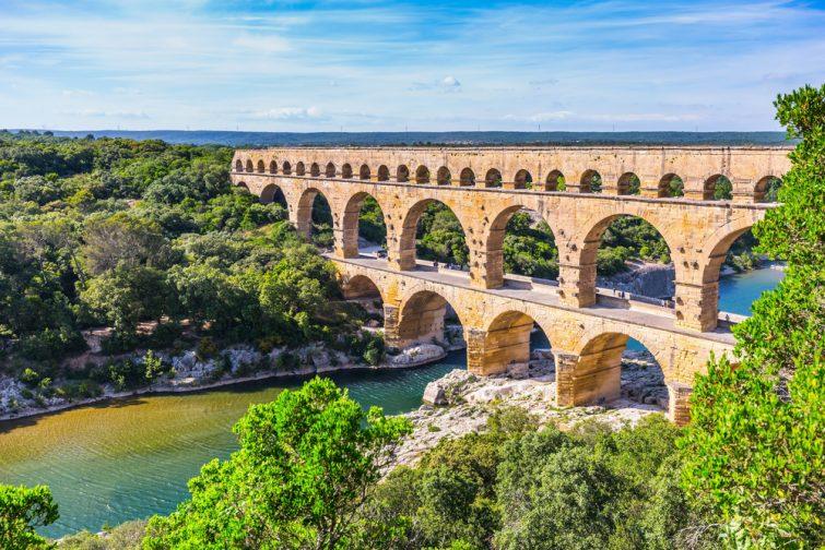 Le Pont du Gard et le Gardon