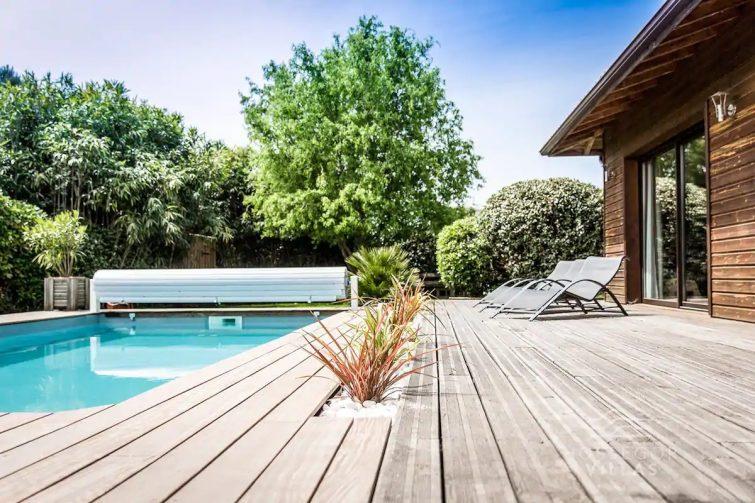 CARLOTTA Maison bois avec piscine chauffée et Jacuzzi à Seignosse