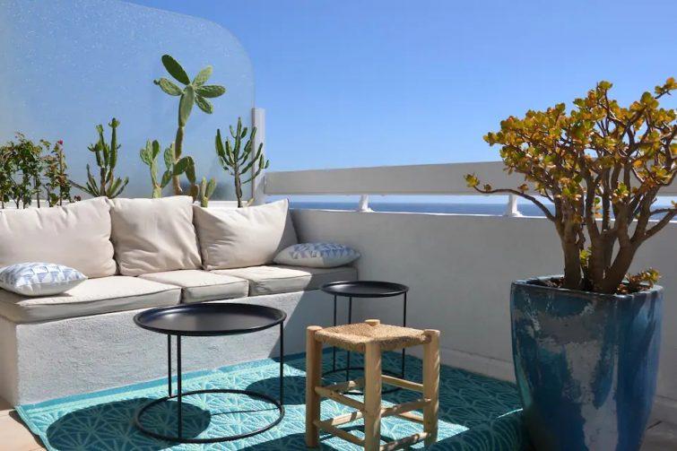 F2 Terrasse Hypercentre front de mer- Déco Ibiza